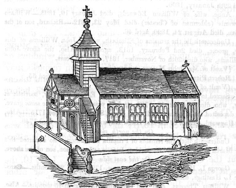 17thc Woodcut of St Michael's Church