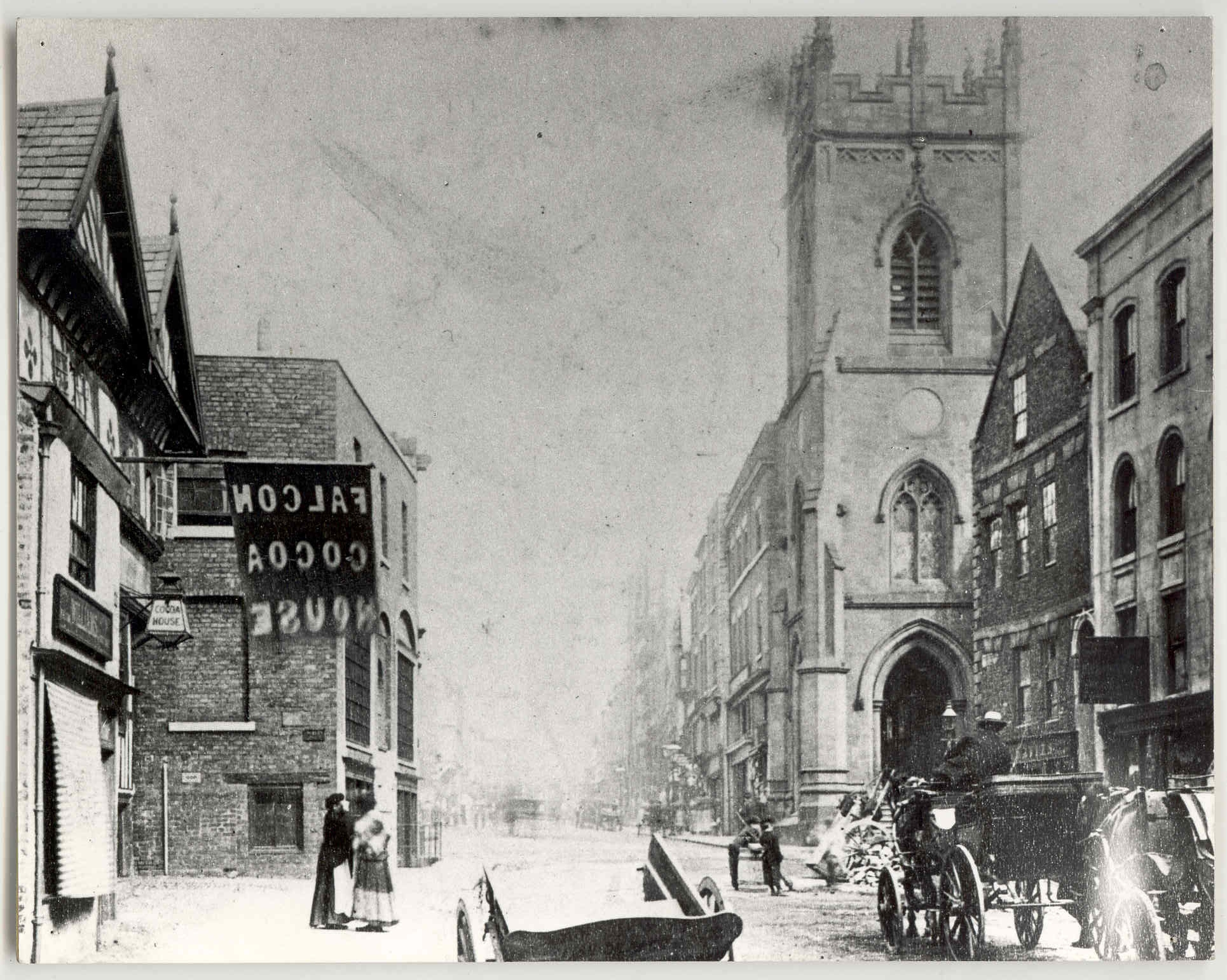 Chester Bridge Street Junction with Pepper St. & Grosvenor St.